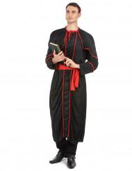 Bischof Kostüm für Herren schwarz-rot