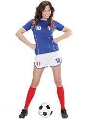 Frankreich Fußball-Kostüm für Damen