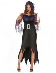 Spinnenkönigin Damenkostüm schwarz-violett
