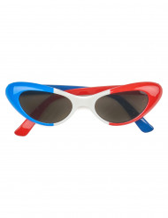 Eckige Frankreich-Fan-Brille für Erwachsene