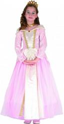 Märchenprinzessin Kostüm für Mädchen rosa-weiss-goldfarben
