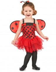 Marienkäferkostüm-Kinderkostüm für Mädchen rot-schwarz