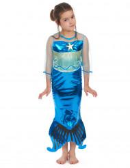 Entzückendes Meerjungfrau Kostüm für Mädchen blau