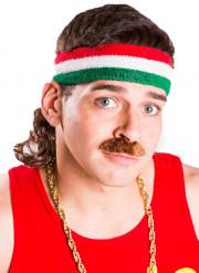 Vokuhila Stirnband grün weiß rot Mulletonthego™