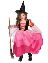 Hexenkostüm rosa für Mädchen