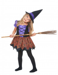 Hexenkostüm bunt für Mädchen