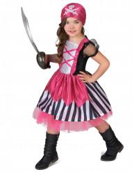 Rosa Piratenkostüm für Mädchen