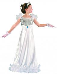 Weißes Prinzessin Kostüm für Mädchen