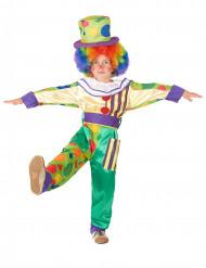 Lustiges Clown Kostüm für Jungen bunt