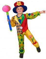 Kinder Clownkostüm für Jungen bunt