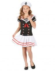 Matrosenkostüm für Mädchen Seefahrerin blau-weiss-rot