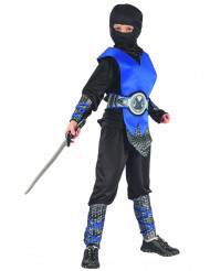 Blaues Ninja Kostüm für Jungen