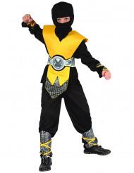 Gelbes Ninja Kostüm für Jungen