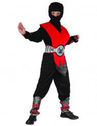 Rotes Ninja Kostüm für Jungen