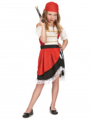 Piraten-Kostüm für Mädchen bunt