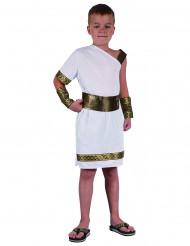 Römisches Kinder-Kostüm für Jungen weiss-goldfarben