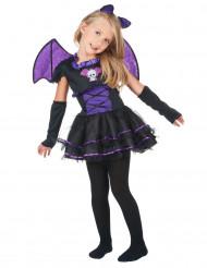 Fledermauskostüm lila für Mädchen Halloween