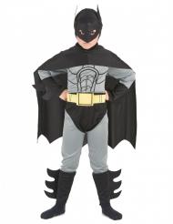 Superhelden Kostüm Fledermaus für Kinder schwarz-grau