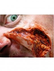 Aufgeschlitzte Haut - Wunden als Abziehbild mit Wasser