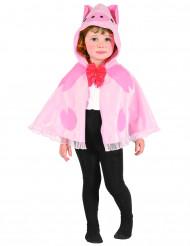 Schweinchen-Umhang Kinderkostüm rosa-rot