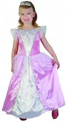Rosa-weißes Prinzessinnenkostüm für Mädchen