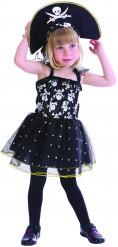 Piraten Totenkopf Kostüm für Mädchen