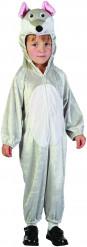 Maus-Kostüm für Kinder Overall grau-weiss