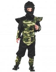 Ninja Tarnfarben Kostüm für Jungen