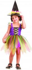 Hexenkleid Regenbogen für Mädchen