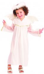 Weihnachtsengel Kostüm weiß für Mädchen