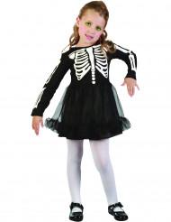 Skelett Kostümchen für Mädchen