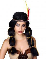 Perücke Indianerfrau