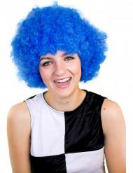 Blaue Clown Perücke für Erwachsene