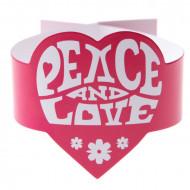 6 Peace and Love Hippie Serviettenringe