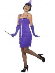 Charleston Kleid lila 20er Jahre für Damen