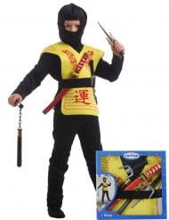 Gelbes Ninja Set