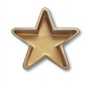 Goldene Servierplatte Stern