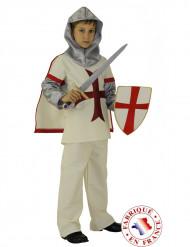 Kreuzritter-Kostüm für Jungen weiss-rot-silberfarben