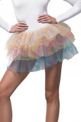 Regenbogen Tütü mit Pailletten für Damen