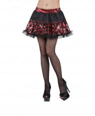 Mini Rock schwarz rot für Damen