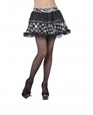 Mini Rock schwarz silber für Damen