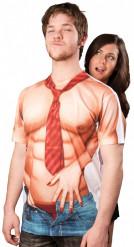 Sexy Nackter Oberkörper T-Shirt für Herren