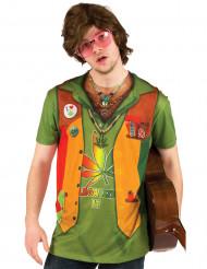 Hippie T-Shirt Cannabis für Herren