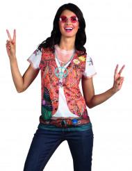 60er Jahre Hippie T-Shirt für Damen