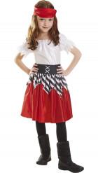 Rotes Piratenkostüm für Mädchen