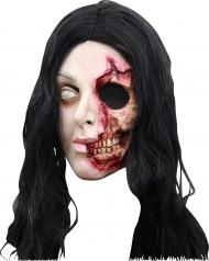 Maske Frau mit halbem Gesicht