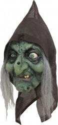 3/4-Maske Hexe mit Kapuze