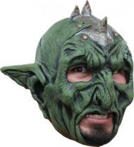 Maske 3/4 grünes Vampir-Monster