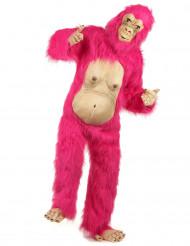 Pinkes Gorilla Kostüm für Erwachsene
