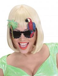 Hawaii Papagei Brille für Erwachsene